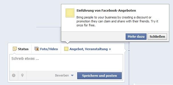 Facebook-Offers jetzt auch in Europa