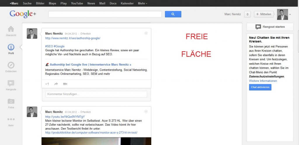 Google plus neues Design